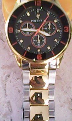 d93cf192cb6 Relógio Potenzia Sport luxo Pulseira Em Aço Dourado Dig anal - Loja ...